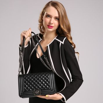 2016 Hot Fashion Women's Leather Flap Handbags Famous Brands Designer Diamond Lattice Bags Ladies Purses Women Messenger Bags