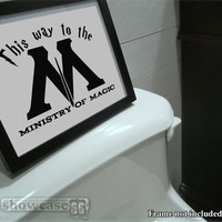 This Way To The Ministry of Magic - Vinyl Wall Art - FREE Shipping - Fun Harry Potter Inspired Decal