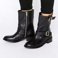 Carvela Leather Biker Boots at asos.com
