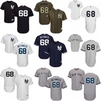 Navy white grey Dellin Betances Authentic baseball Jersey , Men's #68 Majestic MLB New York Yankees Flexbase Collection cool base stitch