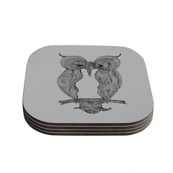 "Belinda Gillies ""Owl"" Coasters (Set of 4)"