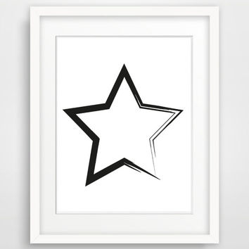Galaxy Star Digital Art Print, Minimalist Scandinavian Modern Black And White Nursery Wall Decor Graphic Poster Instant Download Art Print