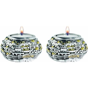 Candle Holders Jerusalem Ball Silver 925 Electroforming
