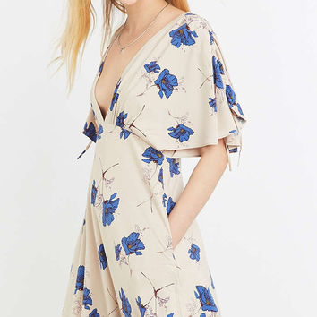 Free People Melanie Draped Floral Dress - Urban Outfitters