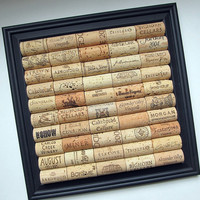 Wine Cork Board With Black Square Frame - Office, Kitchen, Dorm Room,  Man Cave, Organizer, Home Decor