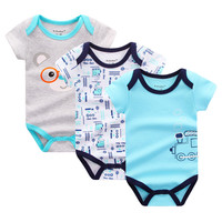 3PCS/LOT Baby Bodysuits Boy and Girl Clothes Summer Infant Jumpsuit Body Suit for Newborns Cotton Baby Clothing Set Baby Costume