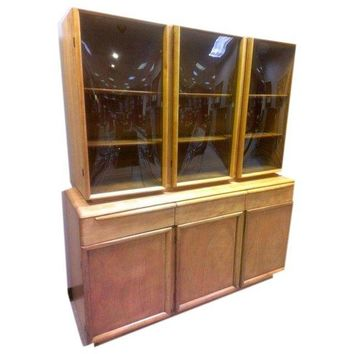 Mid Century Heywood Wakefield China Cabinet Hutch