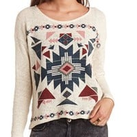 AZTEC HACCI LONG SLEEVE KNIT