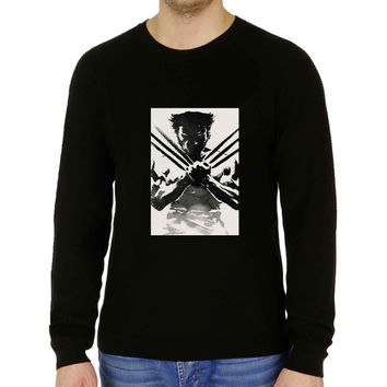 Wolverine watercolor black - Sweater for Man and Woman, S / M / L / XL / 2XL **