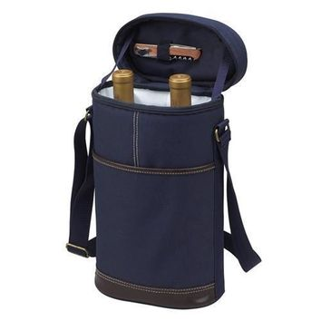 Two Bottle Insulated Carrier | Blue
