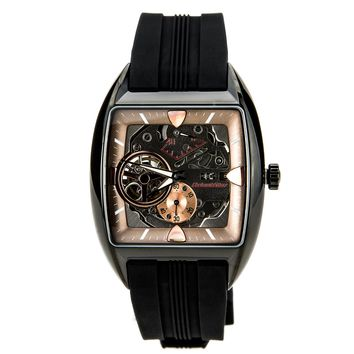 Orient WZ0261FH Men's Retro Future Skeleton Dial Automatic Power Reserve Watch