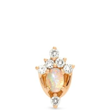 Diamond, opal & rose-gold earring | Maria Tash | MATCHESFASHION.COM US