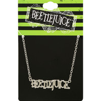 Beetlejuice Name Plate Necklace