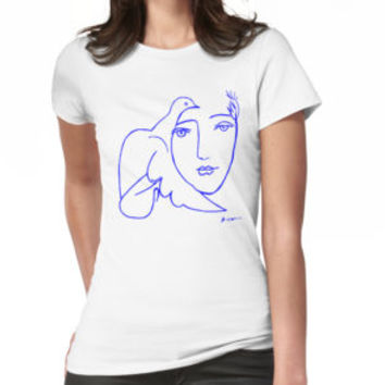 'Dove Face by Picasso' T-Shirt by eeyebrows