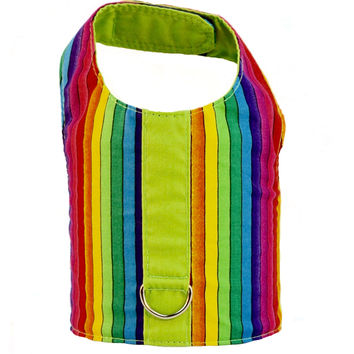 Rainbow Stripe Pride Dog Vest Harness