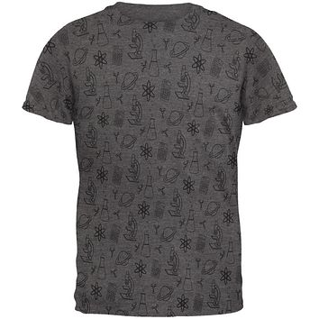 Offset Science Repeat BW Geek Mens Soft T Shirt