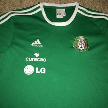 Sale!! Vintage Adidas MEXICO Soccer Jersey MEXICANA Football Shirt
