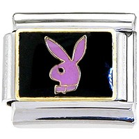 Playboy Rabbit Head PINK Officially Licensed Italian Charm