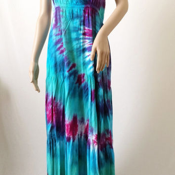 Tie-dye Maxi Dress, Bohemian Dress, Hippie Dress