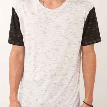 DRAPE KNIT TALL TEE WHITE