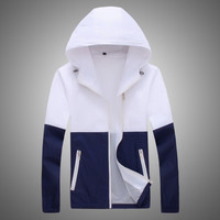 Jacket Women Windbreaker 2017 Autumn Women's Jacket Coat Hooded Female Jacket Fashion Men Thin Jackets For Women