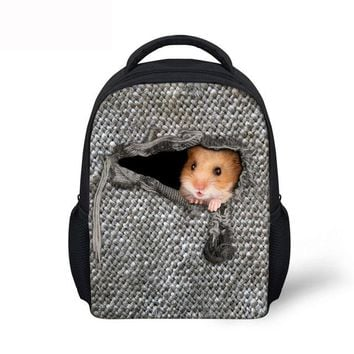 Cool Backpack school Noisydesigns Cool 12 inch Men Backpack little animal cute Printing College Boys School Bags,Casual Laptop Travel Bagpack Mochila AT_52_3