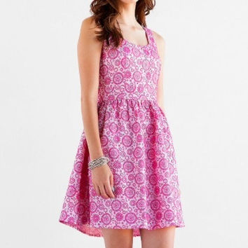 Francesca's Textured Pink Moda Dress  (Francesca's Collections)