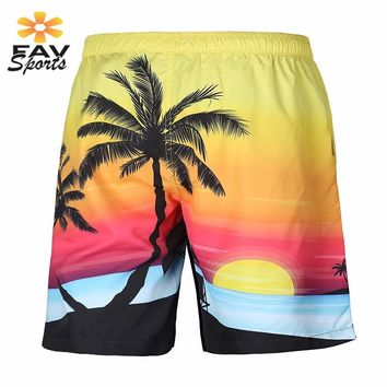 2018 Polyester Quick Dry Beach Shorts Men 3D Printed Swimming Pants Surf Board Shorts Polyester Briefs Swim Trunks Mens Shorts