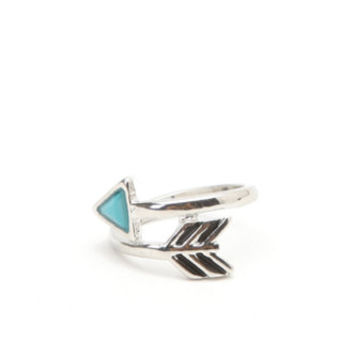 With Love From CA Turquoise Arrow Wrap Ring at PacSun.com