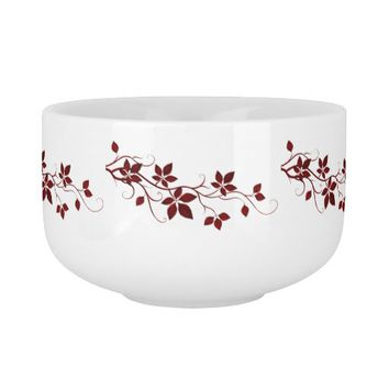 Pretty Red Autumn Leaves on the Vine Soup Mug