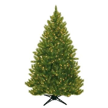 6.5 Foot Realistic Artificial Christmas Tree with Stand Pre-Lit with 450 Lights