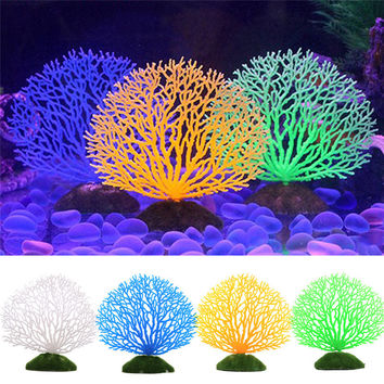 Hot Fish Tank Ornaments 4 Colors Artificial Fake Coral Aquarium Plants Background Fish Tank Aquarium Decoration Accessories