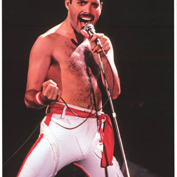 Queen Freddie Mercury Los Angeles 1982 Poster 24x33