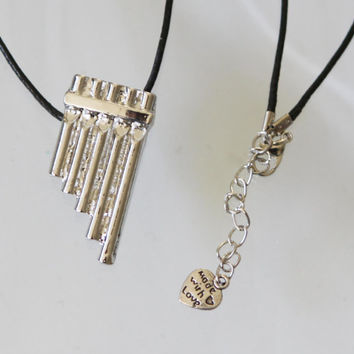 Disney peter pan inspired  flute necklace neverland  pan inspired costume cosplay jewelry jewellery