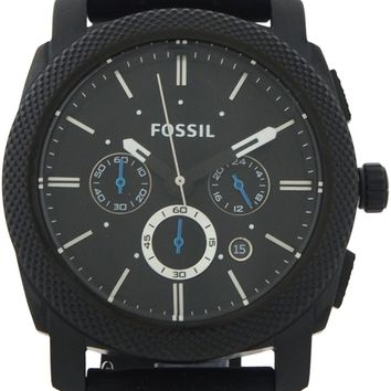 Fossil - Machine Chronograph Black Silicone Watch