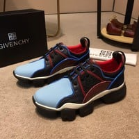 Ready Stock Givenchy Men's Leather Fashion Low Top Sneakers Shoes #343