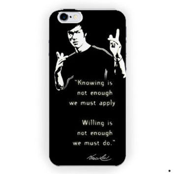 Bruce Lee Art Quotes For iPhone 6 / 6 Plus Case