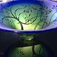 Yin Yang Trees by Laurie Thal (Art Glass Bowl)   Artful Home