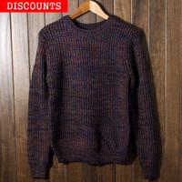 Men's Warm Thick Round Neck Sweater