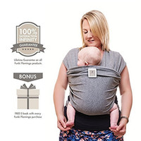 Premium Baby Carrier | Neutral Grey | One Size Fits All | Cozy & Soothing For Babies | Suitable for Newborns, Infants & Toddlers | Cotton/Spandex Comfort Fabric |100% Infinity Guarantee | Ideal Gift