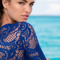 Luli Fama Blue Crop Top - Wanted and Wild