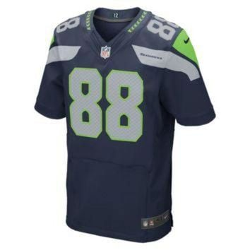 CUPUPS Nike NFL Seattle Seahawks (Jimmy Graham) Men's Football Home Elite Jersey