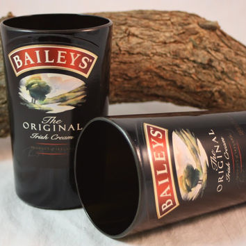 Drinking Glass from Upcycled Baileys' Irish Cream Bottle