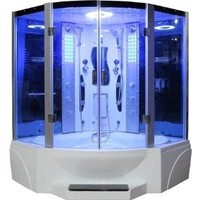 Pivot Door Steam Shower Enclosure Unit