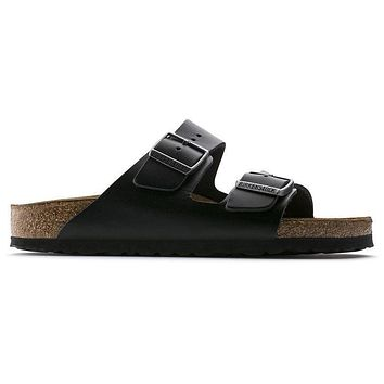 Birkenstock Arizona Soft Footbed Smooth Leather Amalfi Black 0552331/0552333 Sandals