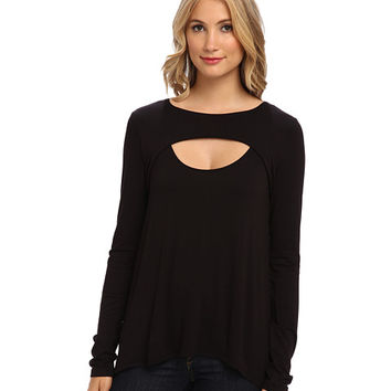 BCBGMAXAZRIA Genelle Drape Back Knit Top Black - Zappos.com Free Shipping BOTH Ways