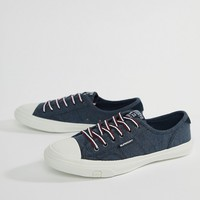 Superdry Low Pro Navy Trainer at asos.com