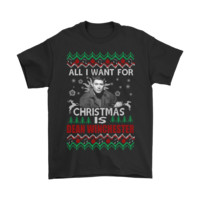 PEAP8HB All I Want For Christmas Is Dean Winchester Supernatural Shirts