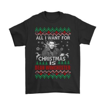SPBEST All I Want For Christmas Is Dean Winchester Supernatural Shirts