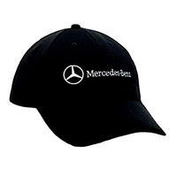 Mercedes Benz Polyester Mesh Hat Cap avail NAVY/BLACK/GRAY Adjustable (Black)